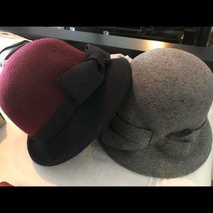 Bow cloche hats